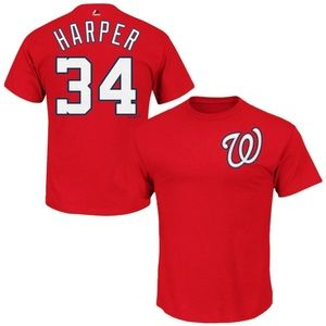 Washington Nationals Bryce Harper Tee Men's Large